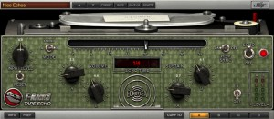 The Tape Echo is very true to the original, but has some exceptions: 1) It's stereo, 2) BPM sync. Clicking the Echoflex logo reveals additional controls for Rec Level, Tape Wear, Wow/Flutter & Noise.